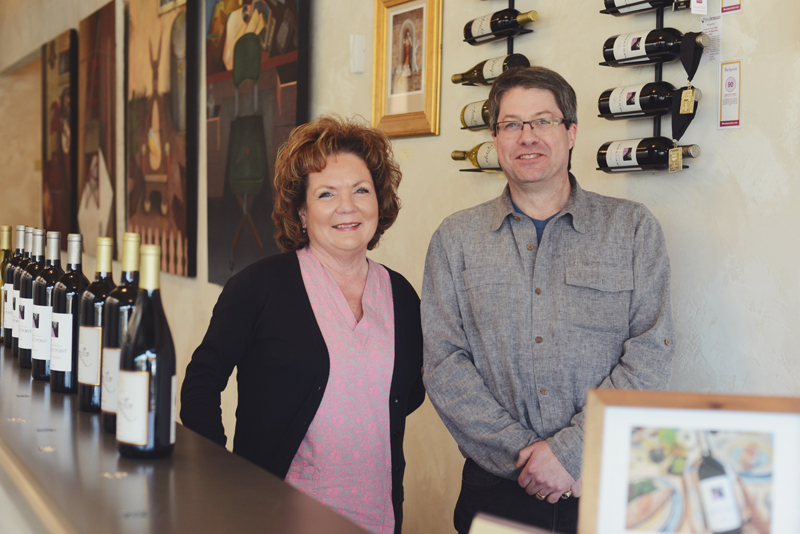 Lookout Point Owner George Petzinger and Antolin Cellars owner Linda Haralson
